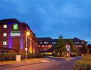 Birmingham Holiday Inn Express Hotel Night Shot