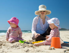 Keeping your baby cool on holiday