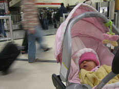 Check-in procedures at Gatwick airport for buggies