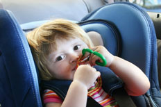 Keeping baby entertained in the car