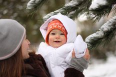 How can I keep my baby warm in cold weather?