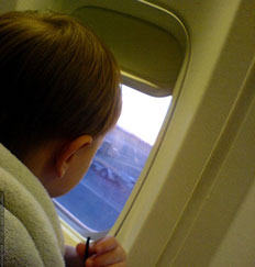 How can I keep my baby entertained during flying?