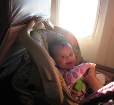 Baby seats on the plane
