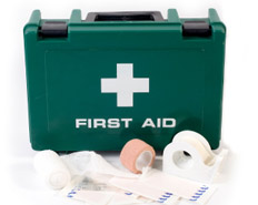 Can I carry a first aid kit or is one available?