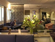 Relax in an airport lounge before flying