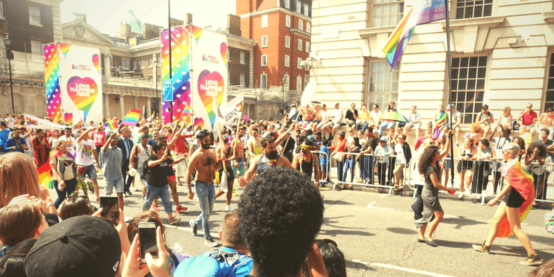 Pride crowd