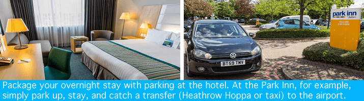 Heathrow Park Inn with parking