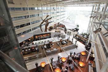 Book a room at the Heathrow Hilton