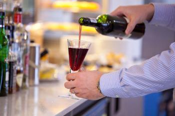 Free bar at the Gatwick Aspire by Servisair lounge