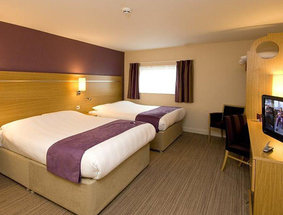 Family room at the Manchester airport Premier Inn