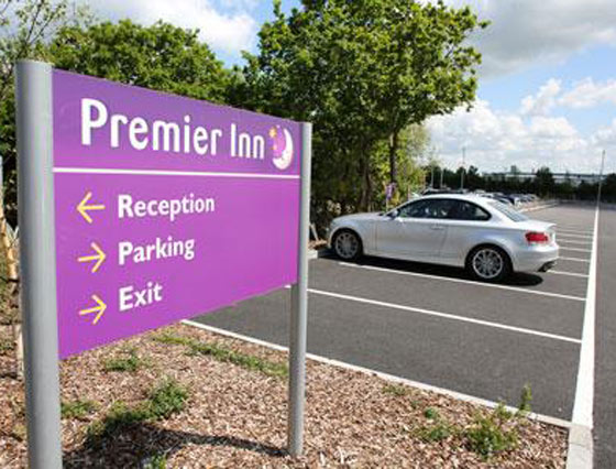 Free parking at Premier Inns