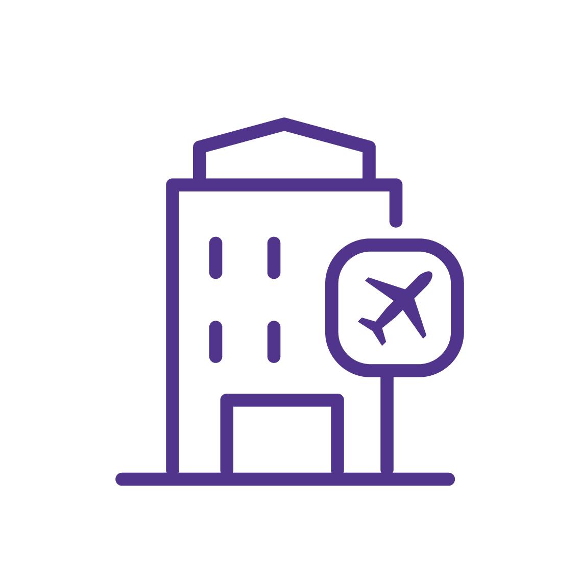 Flughafenhotel direkt am Terminal
