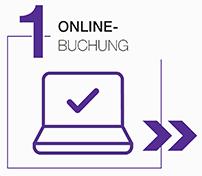 Online Buchung Grafik