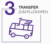Transfer zum Flughafen Amsterdam Grafik
