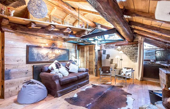 Wohnzimmer Holzhuette