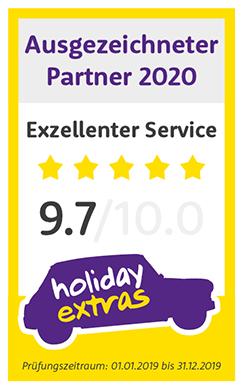 Holiday Extras Vermittler Zertifikat