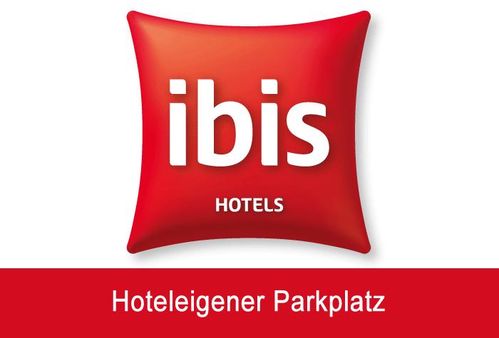 Ibis Koeln Airport Hotelparkplatz Logo