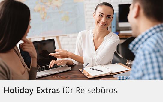 Holiday Extras Reisebüro-Bereich