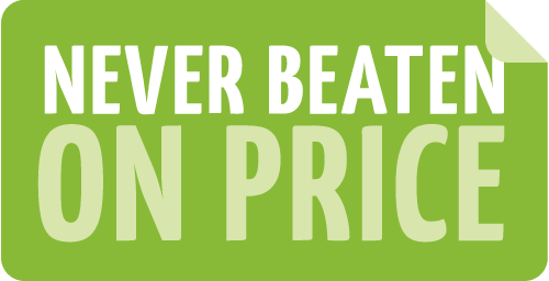 Never Beaten on Price logo