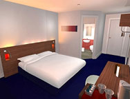 Leeds Travelodge Bedroom
