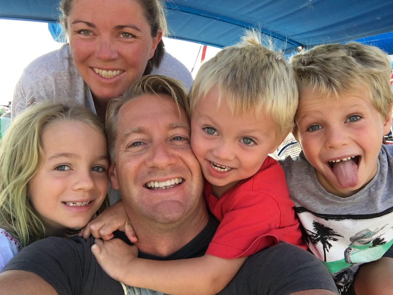 Matthew Pack family shot with wife, Amanda and 3 children, Emily, Henry and Thomas on a SunSail holiday in Croatia 2015