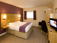 Manchester Premier Inn Hotel Double Bedroom