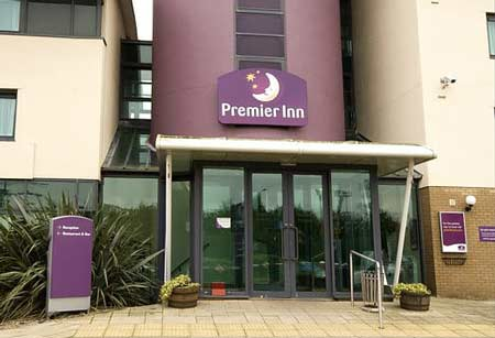 Newcastle Premier Inn Hotel Entrance